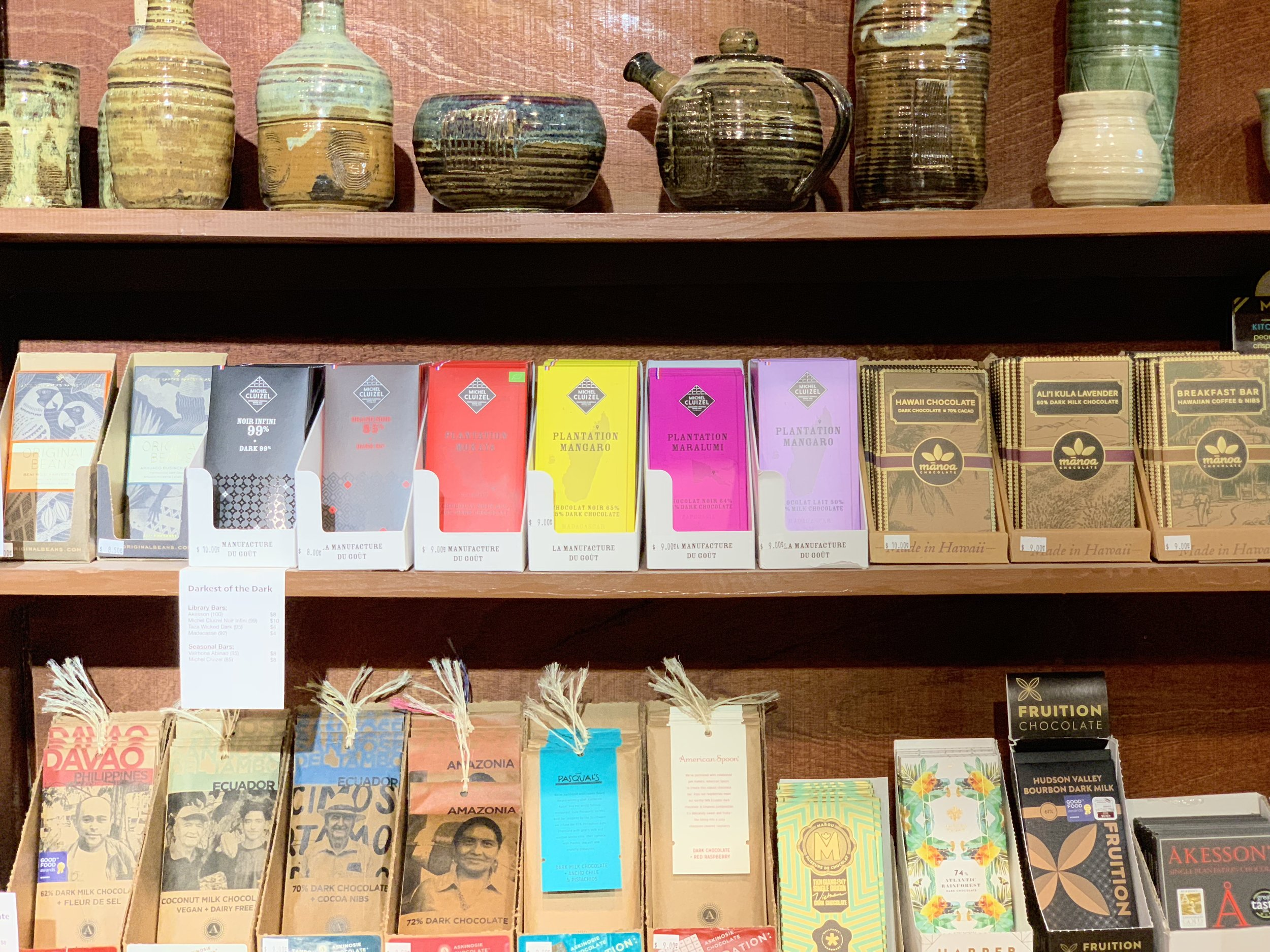 Yahara Chocolate offers more than 70 chocolate bars in their shop in Stoughton, Wisconsin.