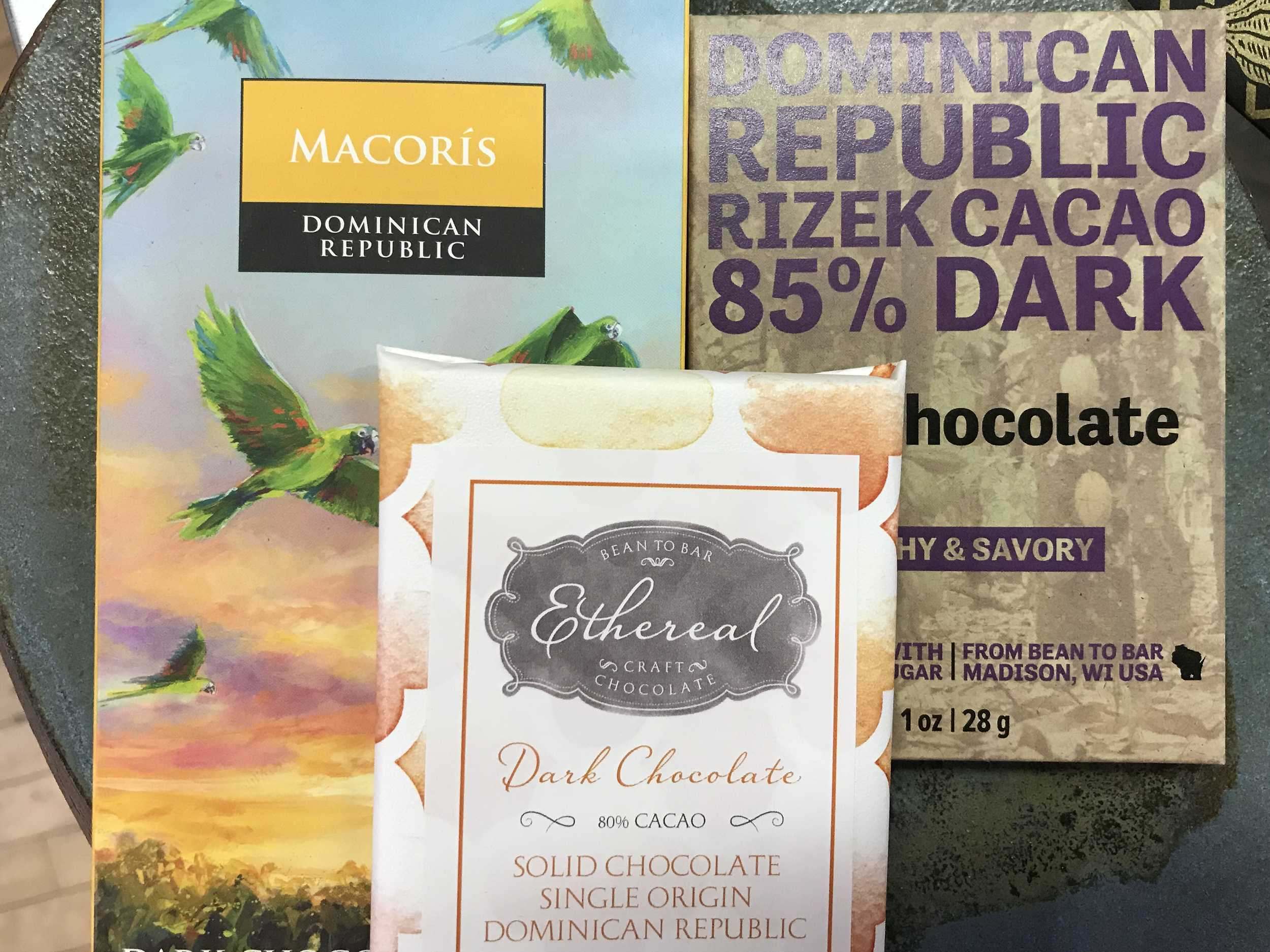 Dark Chocolate Bars produced in the Dominican Republic.