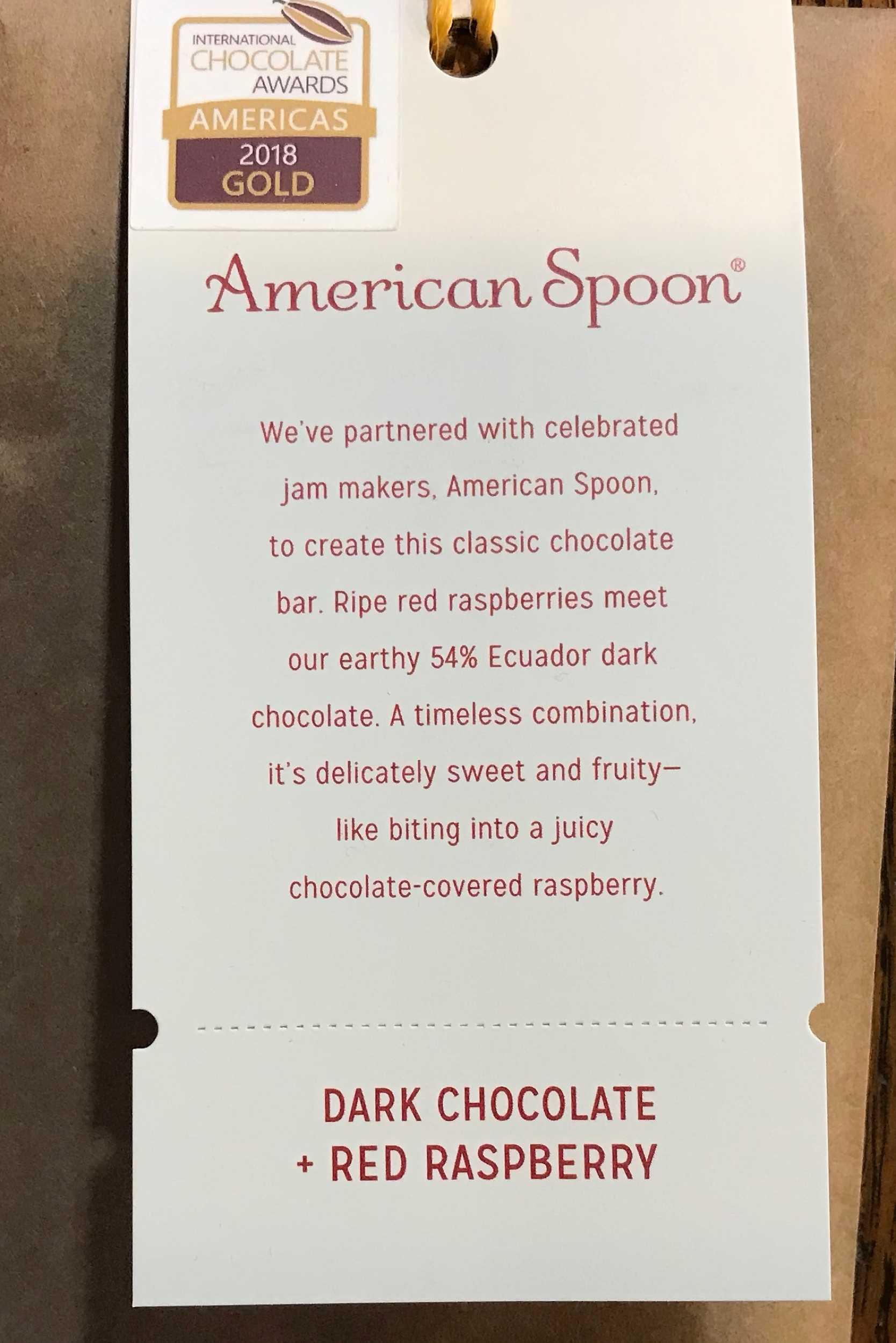 Askinosie Dark Chocolate Red Raspberry Chocolate Bar description.