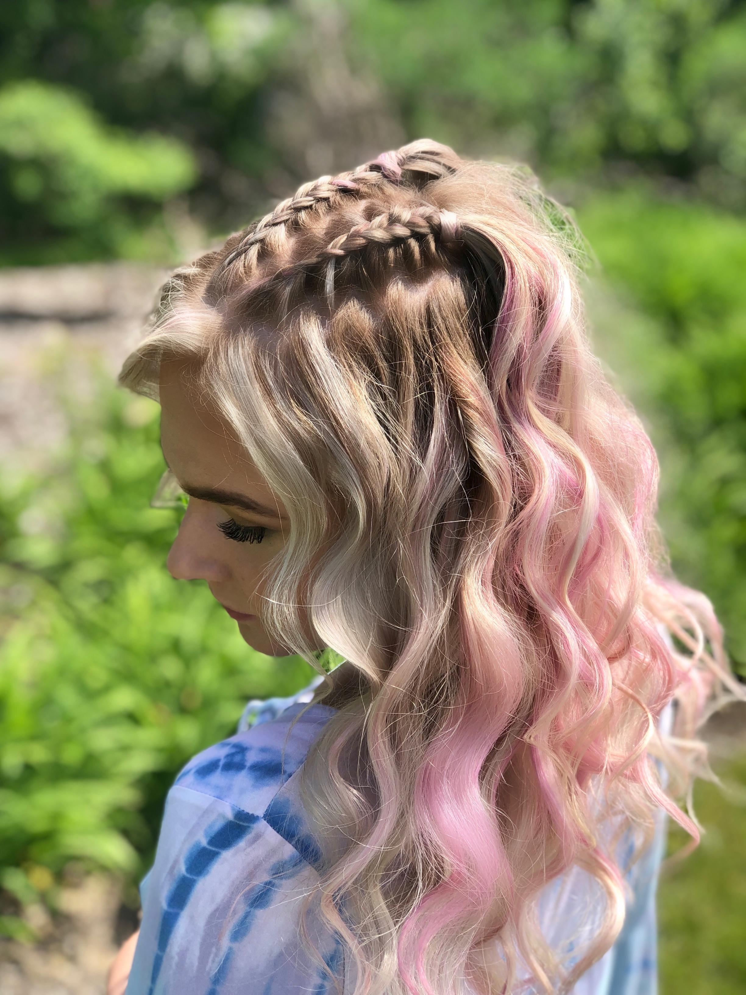 terra salon festival hair pink braids matrix lash extensions.jpeg