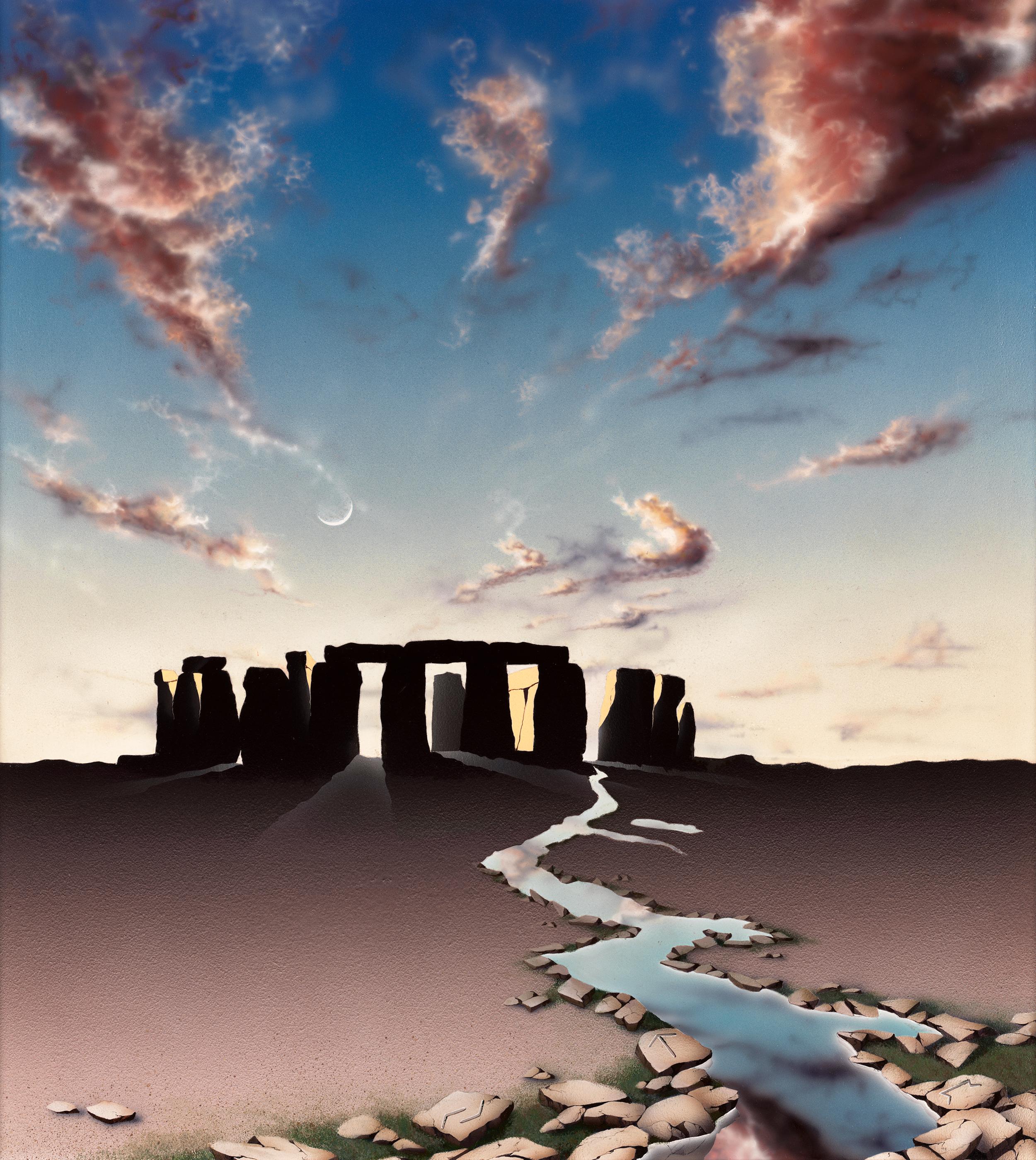Stonehenge, 1997: Acrylic and varnish on board, 38 x 34 in (97 x 86 cm)