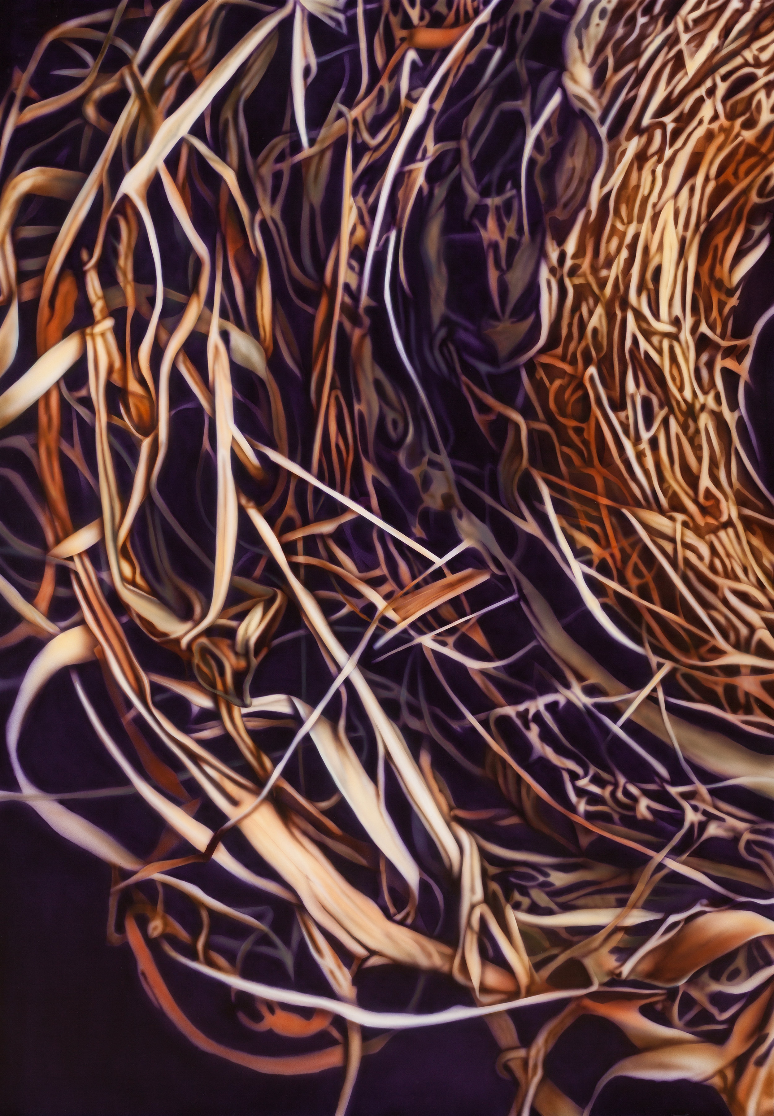 Nesting, 2012: Acrylic and varnish on board, 60 x 42 in (152 x 107 cm)