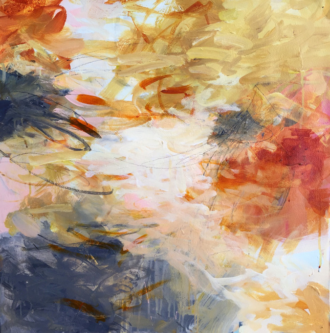 """DAY DREAM by Karen Stastny is acrylic on paper and measures 22"""" x 22"""""""