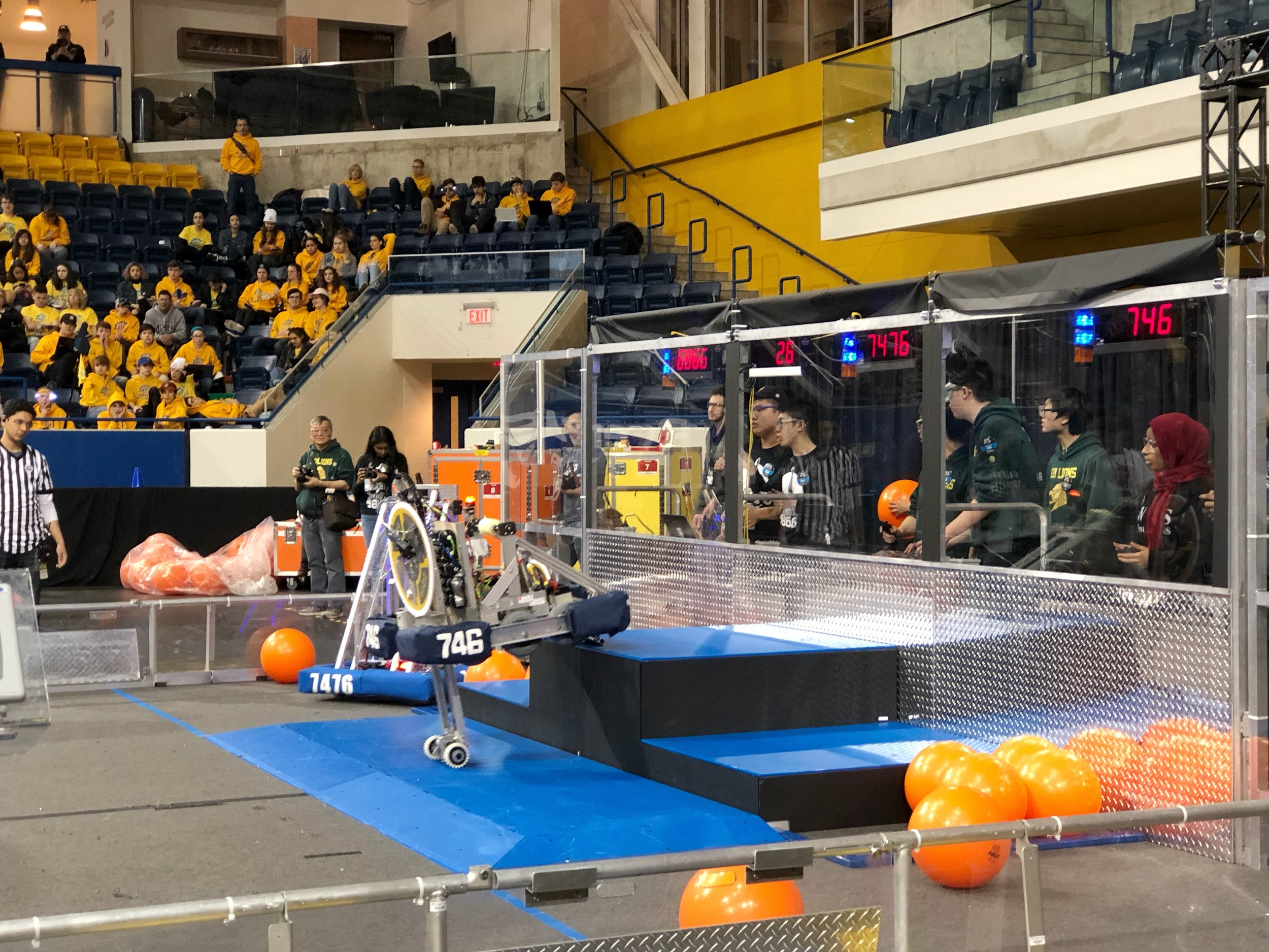 The best feature of Team 746's robot: the hydraulic lift