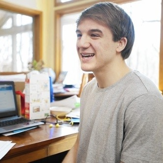 "Jack Andraka   , pictured discussing his book ""Breakthrough:How One Teen Innovator Is Changing the World"", photo courtesy of Capital Gazette"