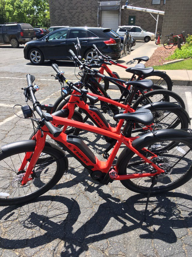 Sponsored Ebike rentals from Parkinson's Peloton sponsor, Trek Bicycles