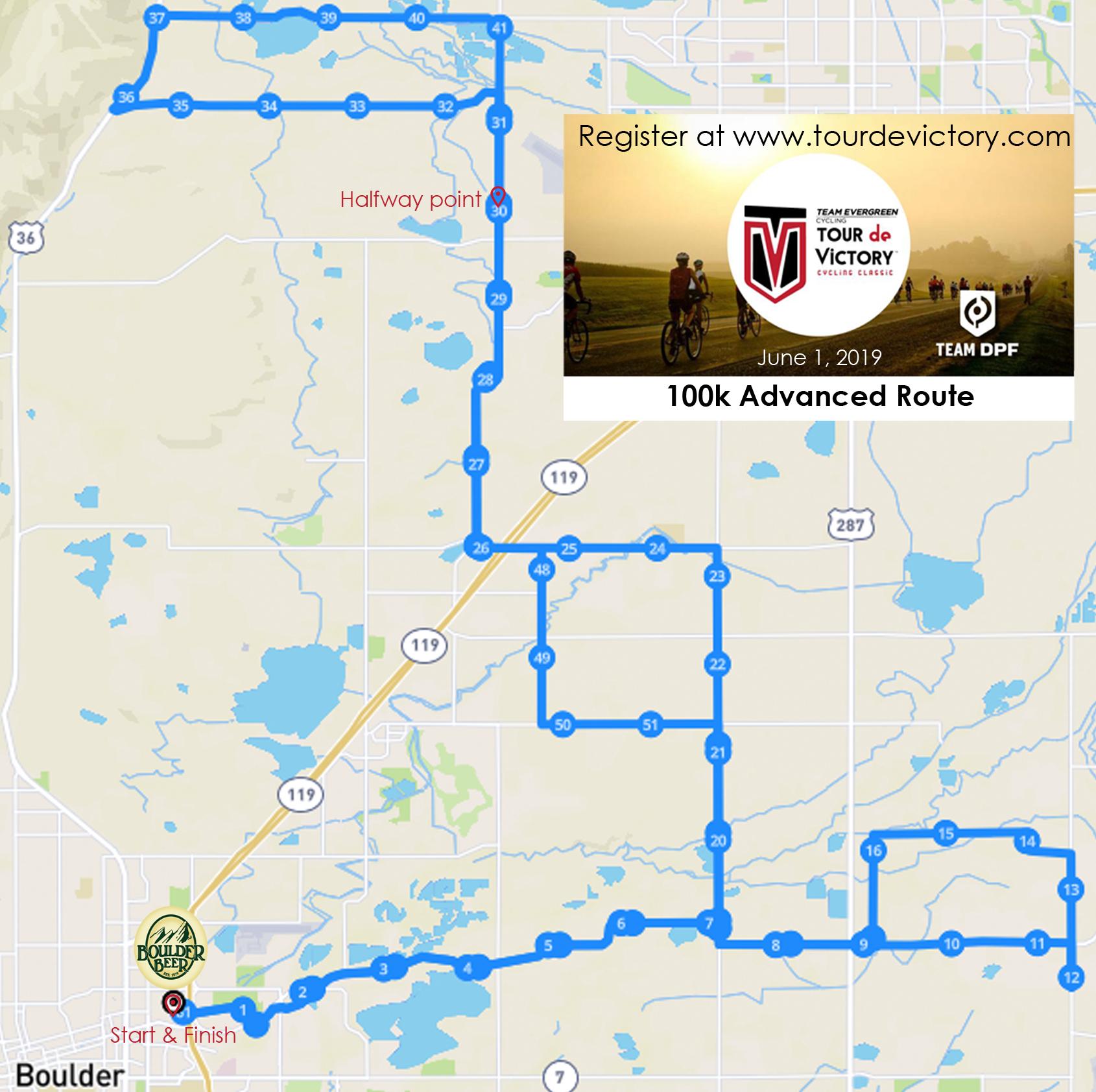 100k Advanced Route