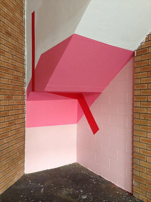 Stair, 2016, Acrylic wall painting Factory 49 Sydney.jpg