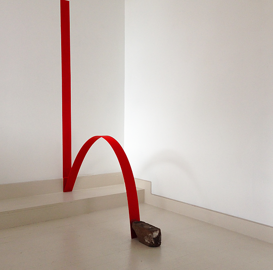 Arch, 2015, plywood, acrylic paint, brick.png