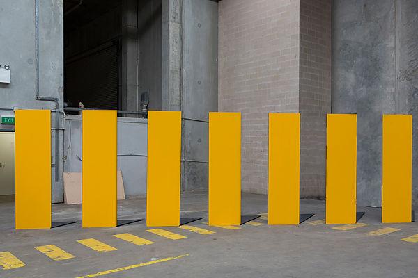 Crossing, 2017 aluminium, plywood, pvc pipe 2400 x 8900 x 1200mm1 copy.jpg