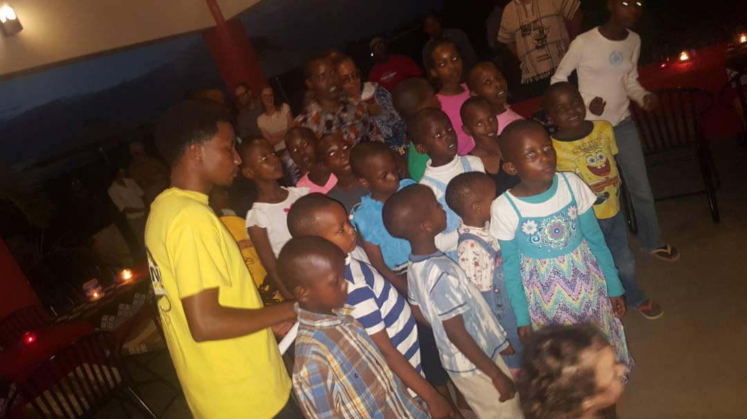The children at STEMM's orphanage sang a song a bout protecting the environment for Dr. Jane. They worked so hard!