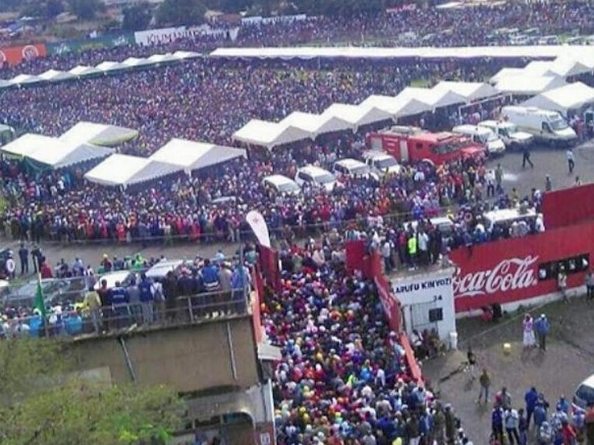 Arusha Soccer Stadium Memorial For Miracle Kids, Over 100,000 In Attendance