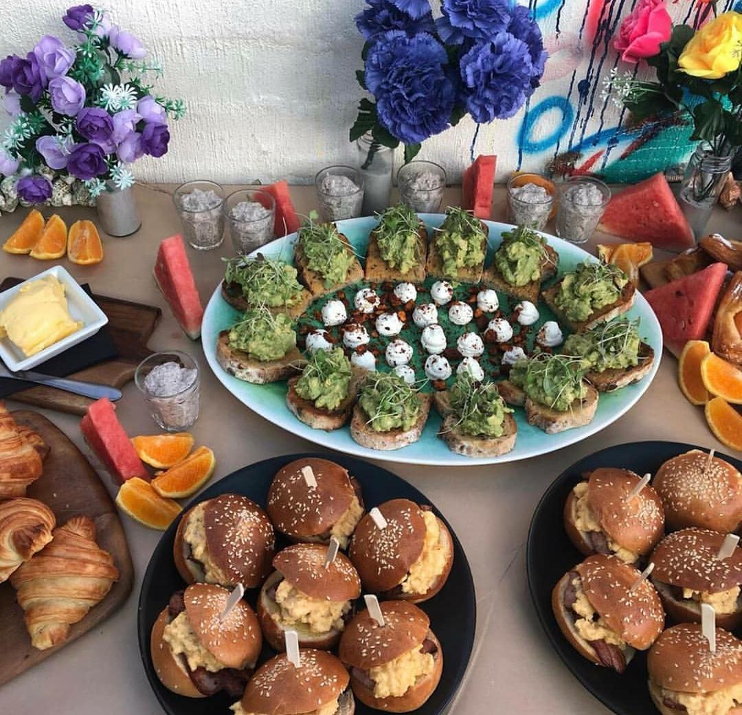 casa de playa breakfast spread