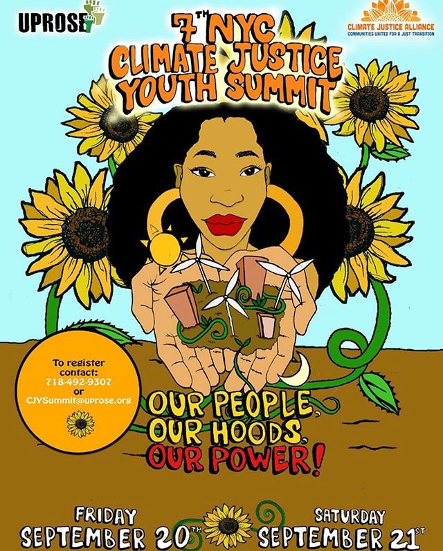 $ save our 🌍🌏🌎 $ Tomorrow we hitting the stage with @sunnaay @labrujanyc @espada_delaluz and @youngdevyn on behalf of #uprose and our shared mission to bring climate justice to the forefront of the global warming crisis discussion. We rocking at 6pm but hit up the @uprosebrooklyn page for more info about the all day youth conference taking place before the show. You know the vibes, link up. Location:  250 Cadman Plaza W, Brooklyn, NY 11201 Showtime: 6pm #circa95 #climatechangestrike