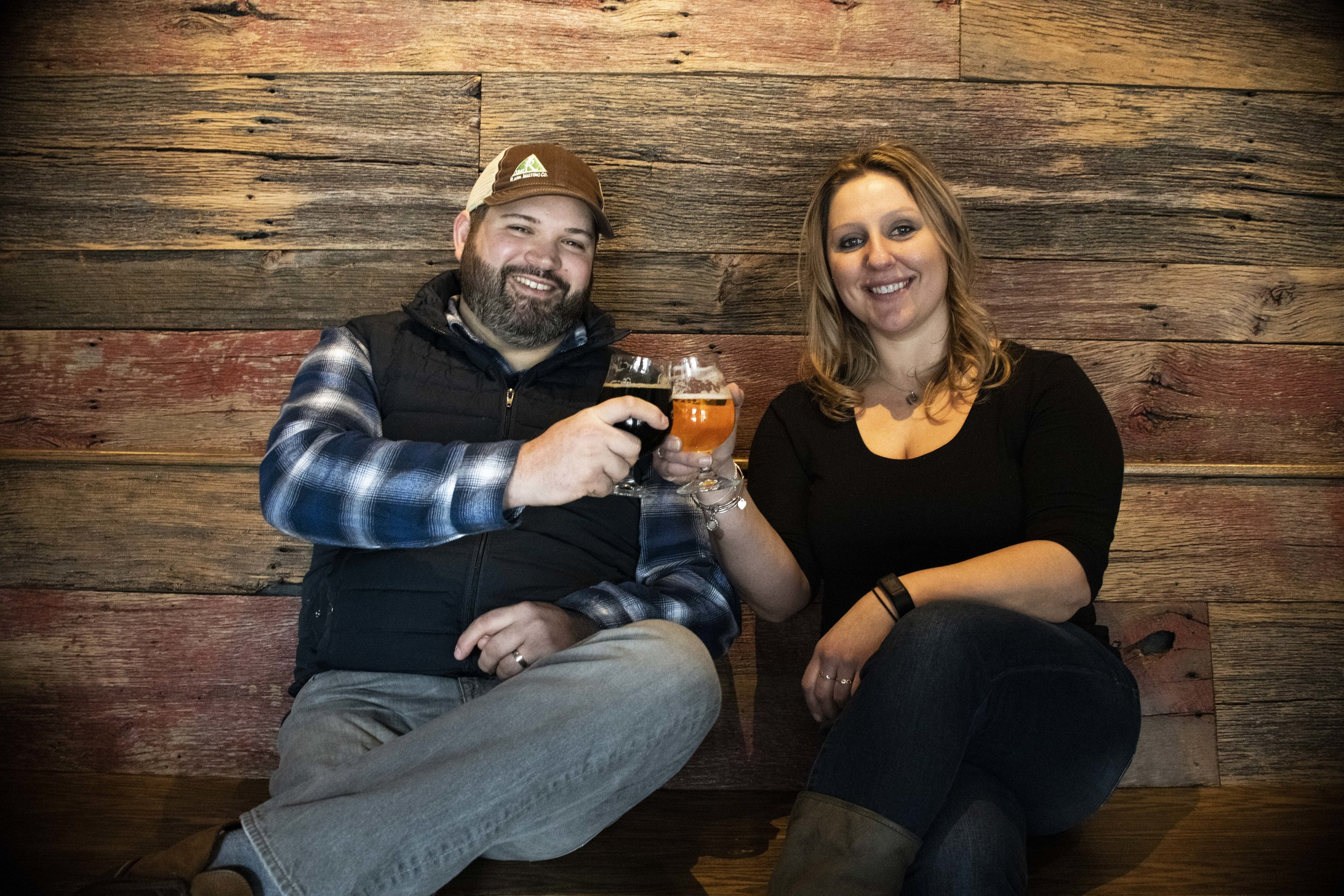 Jay Southwood and Vilija Bizinkauskas of Break Rock Brewing Company.