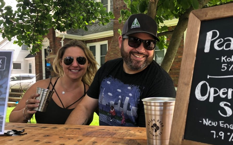 Jay and Vilija debuting Break Rock Brewing at Quincy PorchFest on June 22nd. We poured through all of our kegs! A fun day for all.