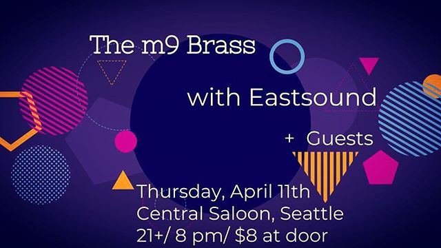We are super excited to announce our first show back in the live game! April 11th at @centralsaloon with @m9brass! Come out & get funky! • • • #seattleband #seattlemusicians #seattlemusic #seattleindie #drums #localmusic #alternativerock #indiepopmusic #popmusic #bellinghammusic #guitar