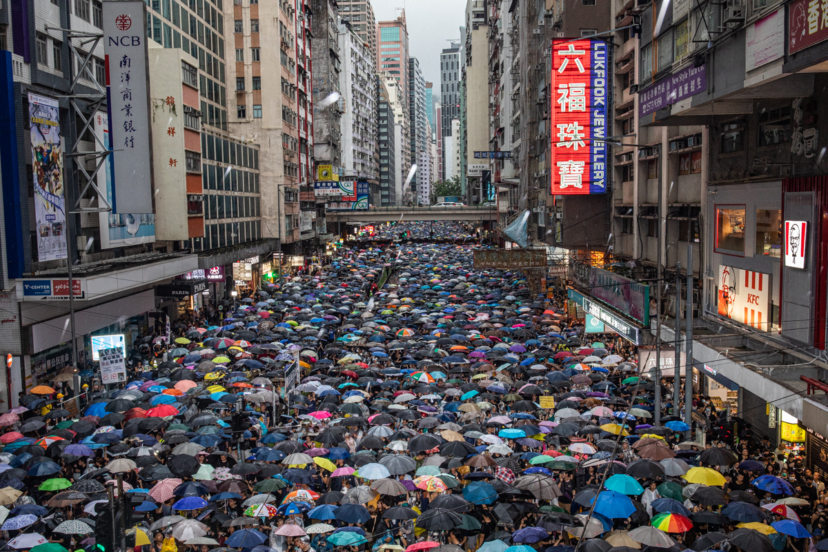 1.7 million Hong Kongers march in peace.