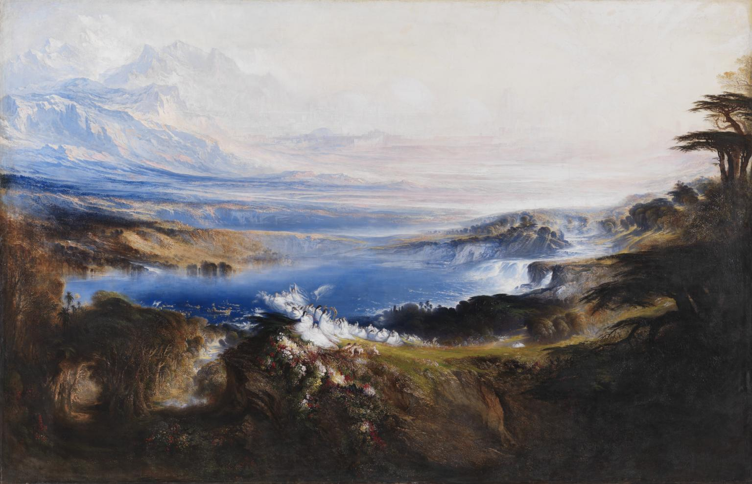 "John Martin, ""The Plains of Heaven,"" 1851–3"
