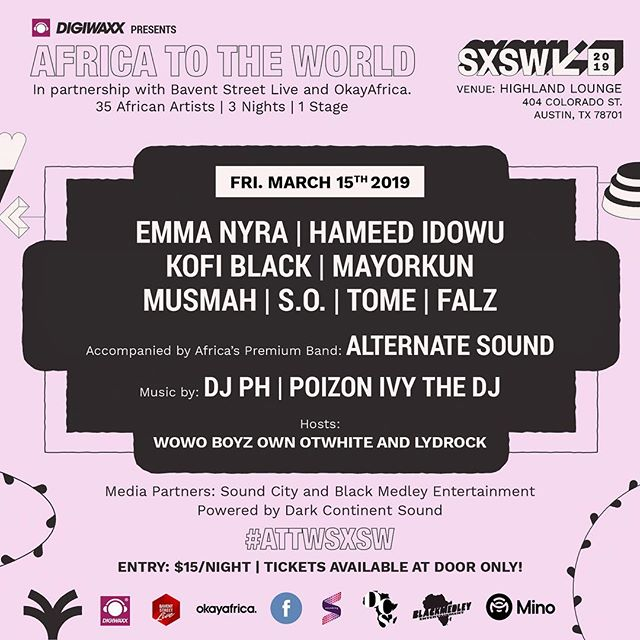 Catch me live at @sxsw this weekend. Bring your friends, I'll bring the vibes 🌊 #attwsxsw #sxsw2019