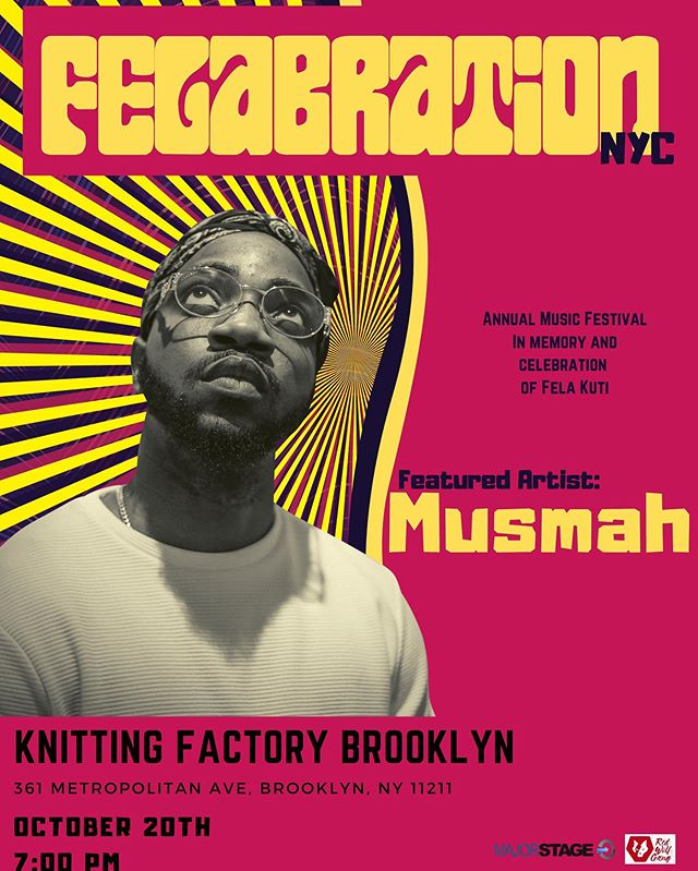 Catch Me Live in Brooklyn at @felabrationny 10/20/2019 🎷🎷🎷 . . . @temiptation @kobo.ent