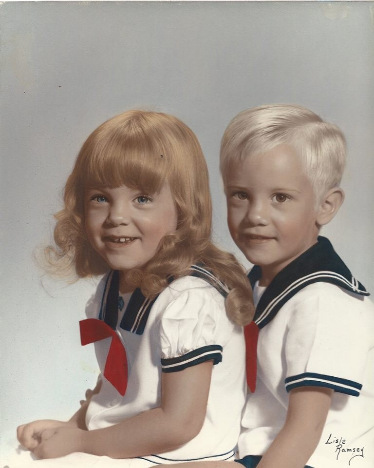 Me and my twin brother, Jeff, age 3.