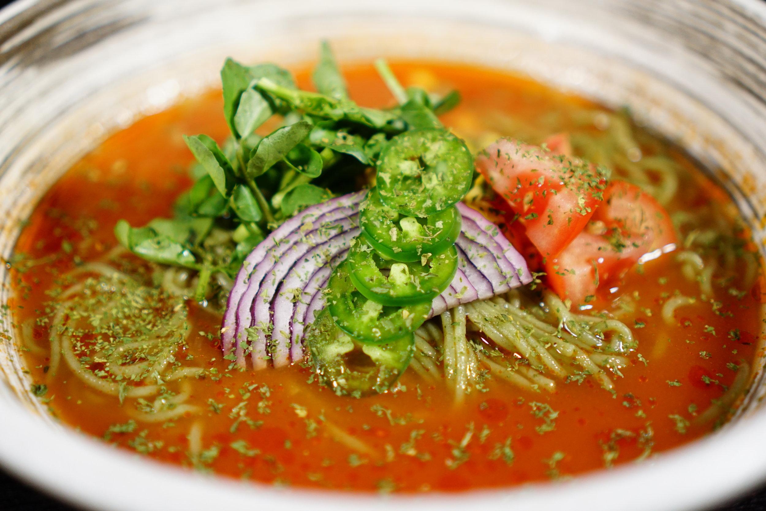Cold Tomato Ramen 3 - Mizu Sockmender.JPG