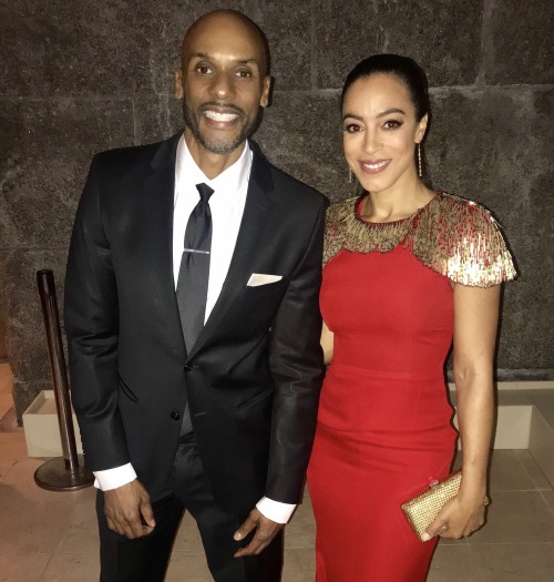 """With my CNN colleague Angela Rye at """"The Root 100"""" 2017 gala."""