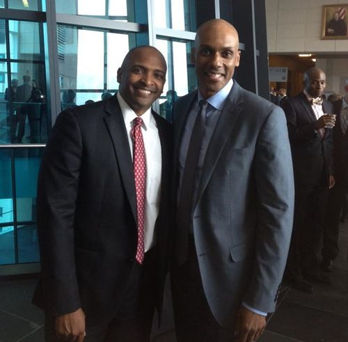 At the swearing-in ceremony for U.S. federal judge Darrin Gayles in Miami.