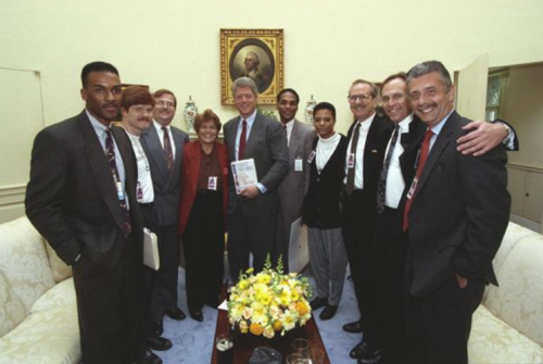 The historic first-ever meeting between LGBT leaders and a US president.