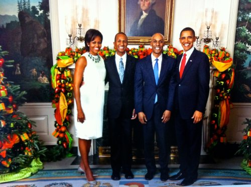 With President Obama and First Lady Michelle Obama at the White House.