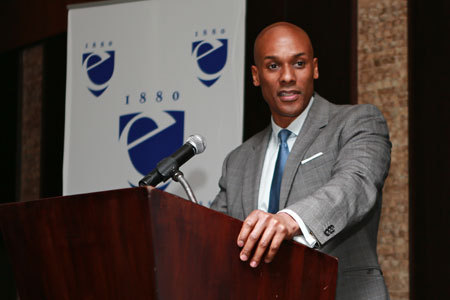 Keith Boykin speaking at Emerson College in Boston. (Photo: Aja Neahring)