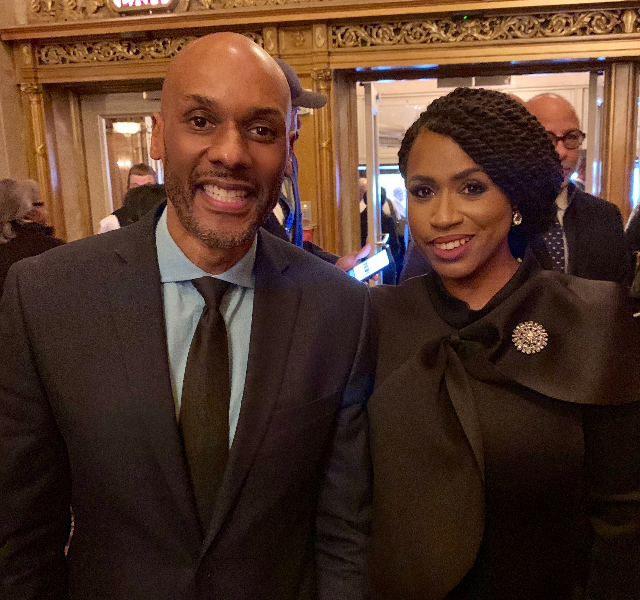 With Congresswoman Ayana Pressley