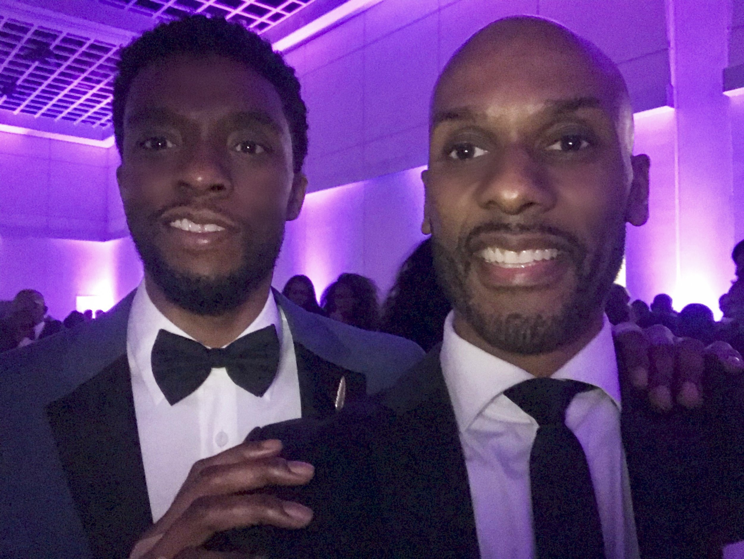 "With ""Black Panther"" star Chadwick Boseman"