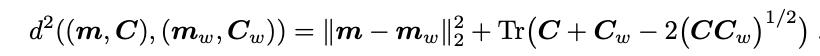 FID Score from  original  paper