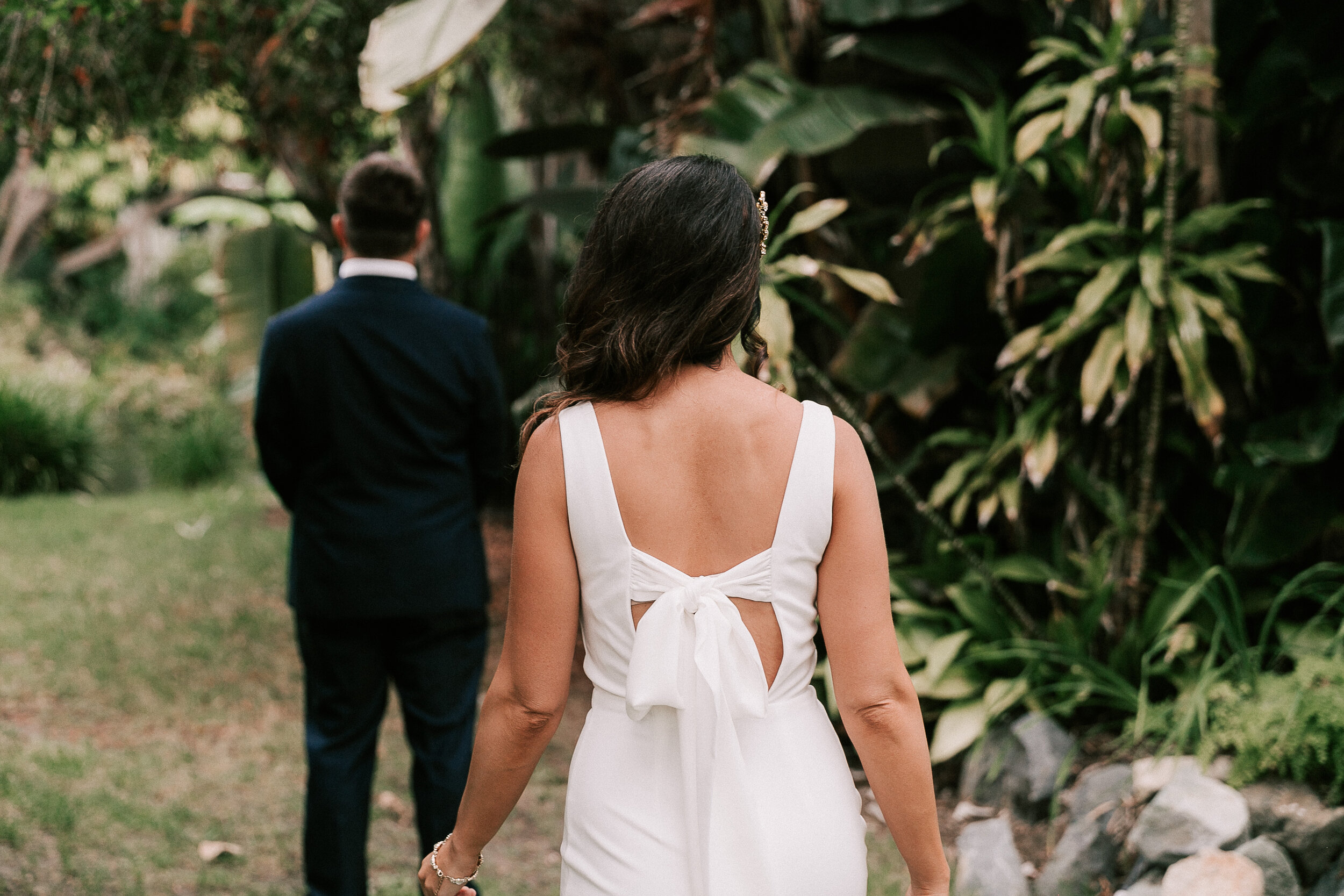 """""""I'm so glad we did a first look"""" - """"It was our private time. But overall having such a more intimate wedding allowed us to have a totally different experience than we would have if we would have been able to have the wedding we initially planned."""""""