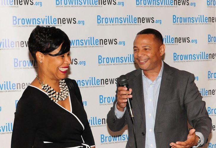 photos by Rich Evans; pictured – Ericka Keller-Wala (CEO Brisa Builders), Vernon Jones Sr. (CEO JIG Media)
