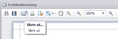 Klikk på dette ikonet i forhåndsvisningen for å få opp printeralternativer.