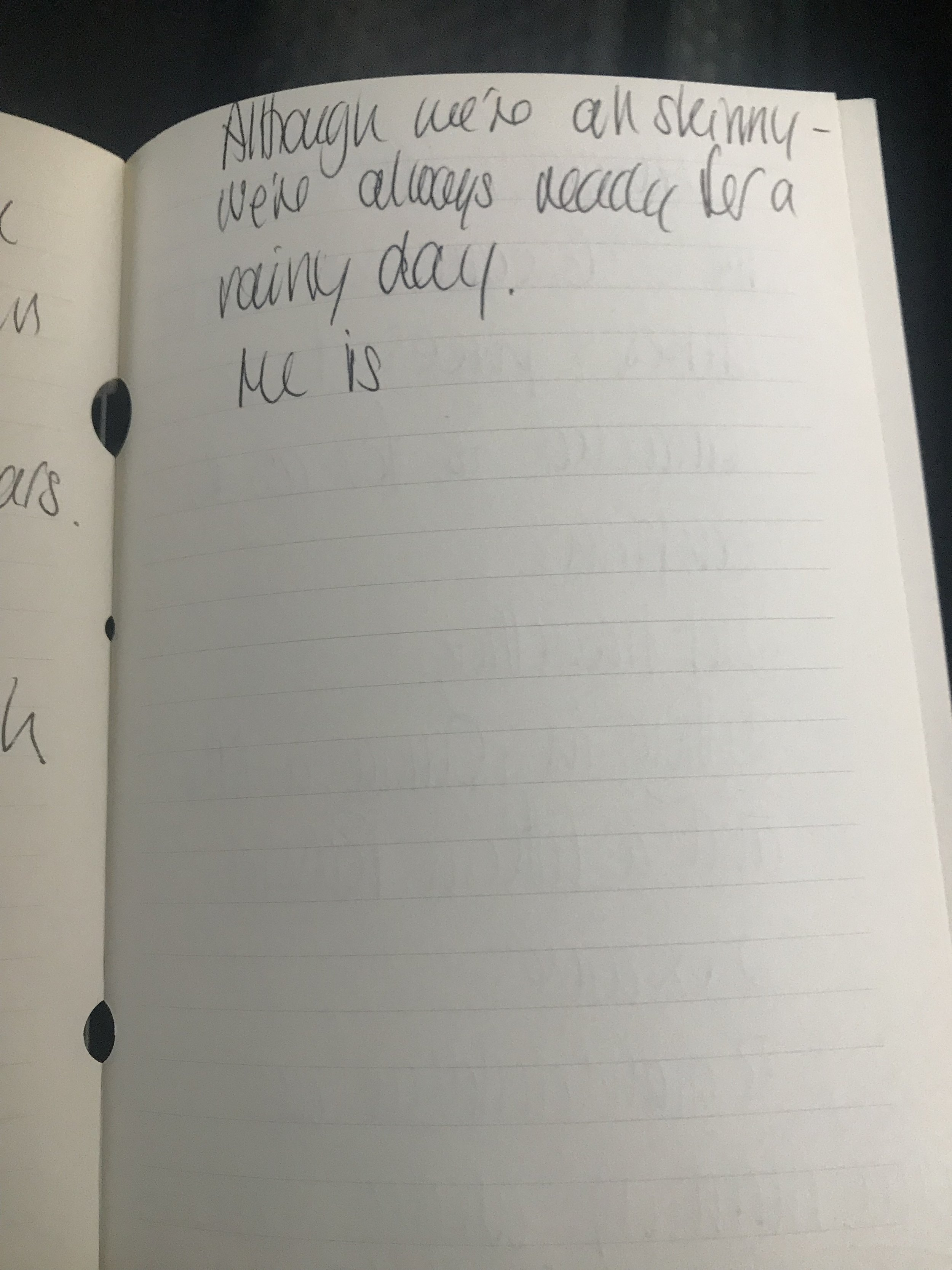 Nettie's notes from the afternoon made us giggle … 'He is' and then it's all a blank!!