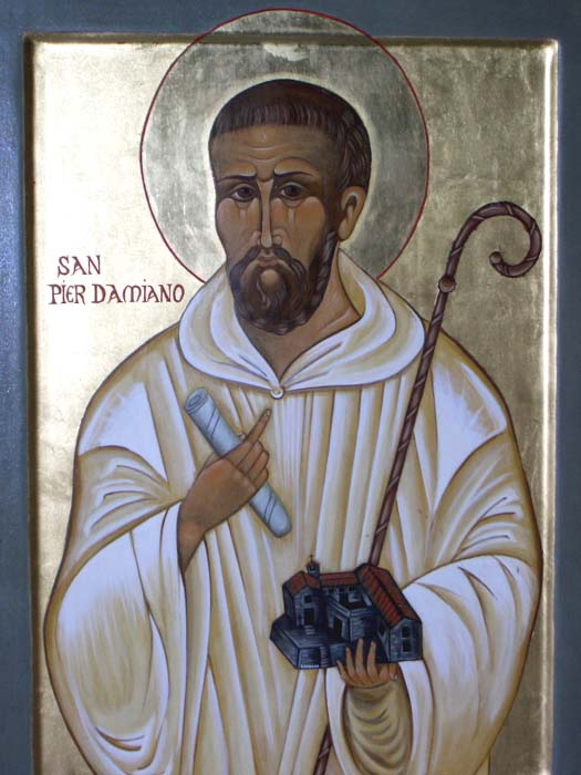 St. Peter Damian. Possibly thinking about forks.