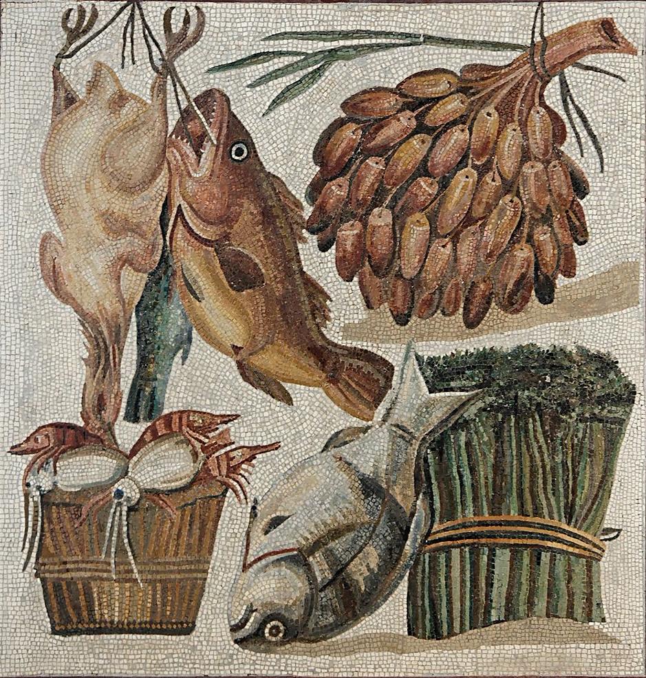 roman fish mosaic