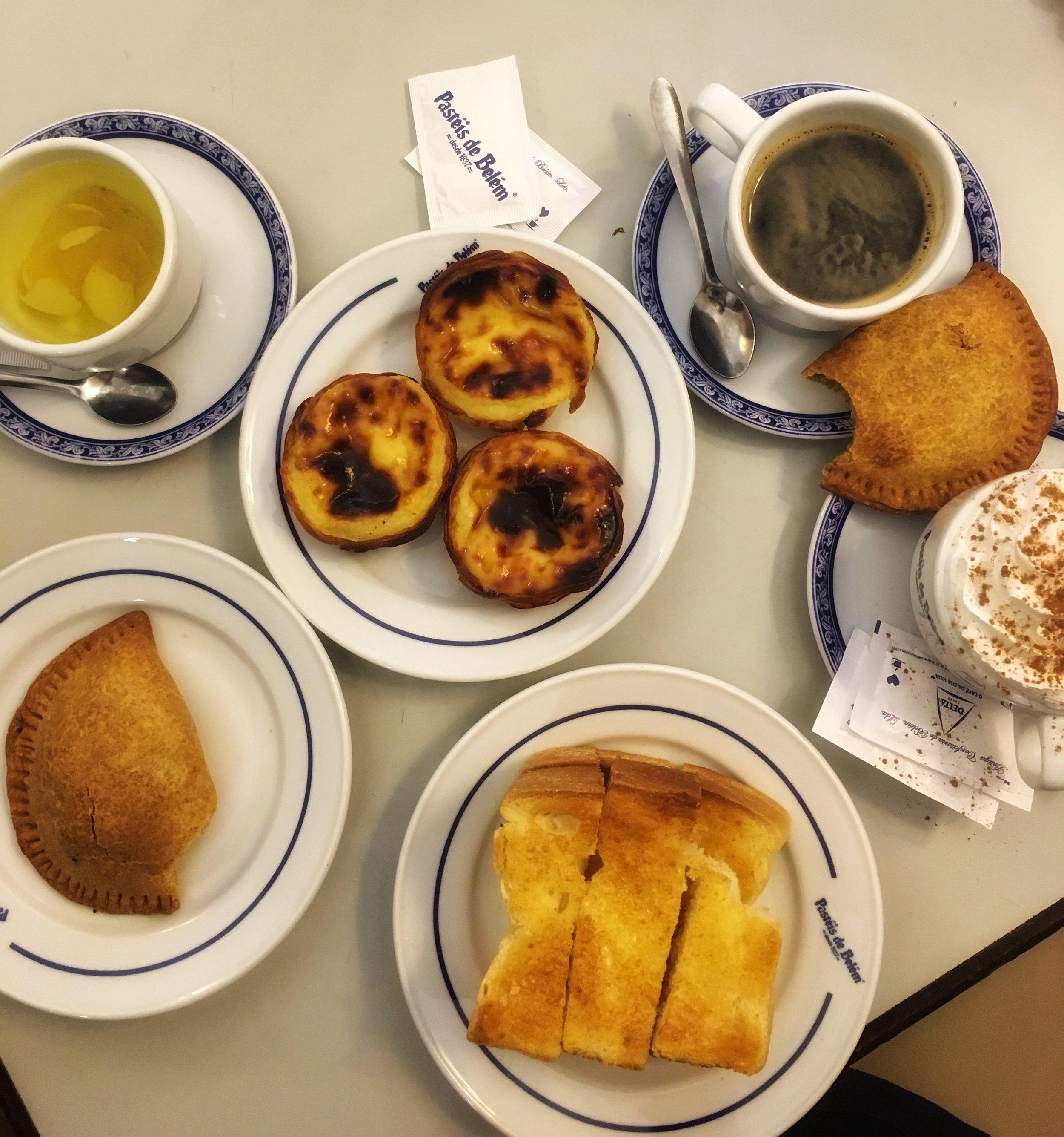 My breakfast at Antiga Confeitaria de Belém