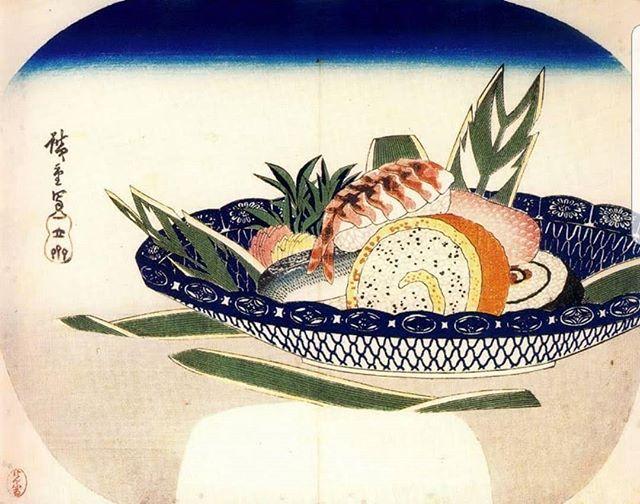 Utagawa Hiroshige, 'Bowl of Sushi', c.1830.