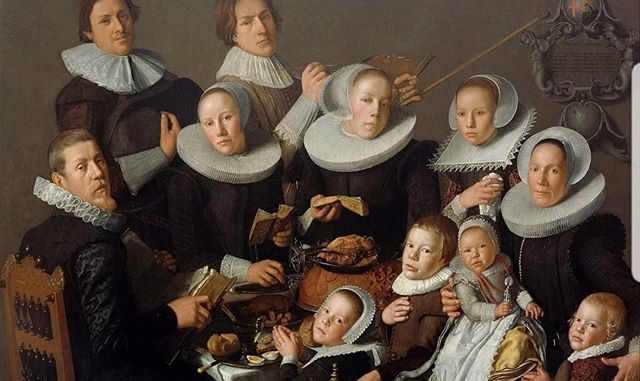 Sad I missed this dinner party.  Andries van Bochoevn, 'Portrait of the Painter Andries van Bochoven and his Family', 1629  #foodart #foodhistory #arthistory #familydinner