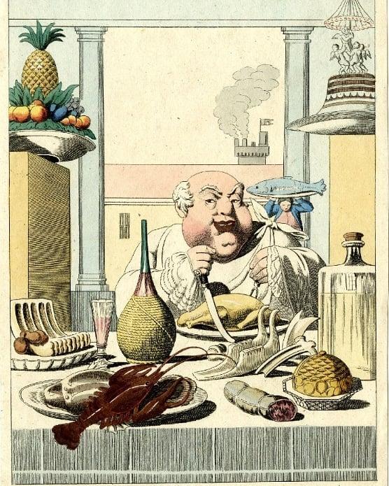 Unknown artist, 'Der Esser (The Glutton), c.1815-20