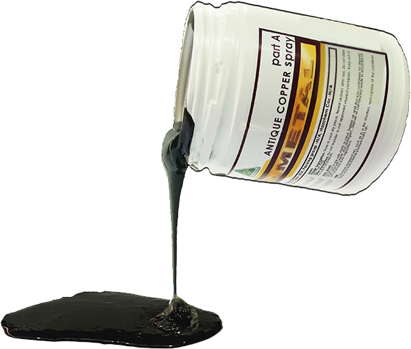 Spray Viscosity - LIQMET's spray viscosity is a fine material that is applied by spraying. Its texture is like paint.This viscosity allows for fine finishing (like painting a surface) and also has the capability to create a 'bubbled' texture. Finer details are better achieved using spray viscosity.