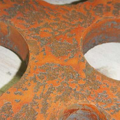 volcano orange iron rust