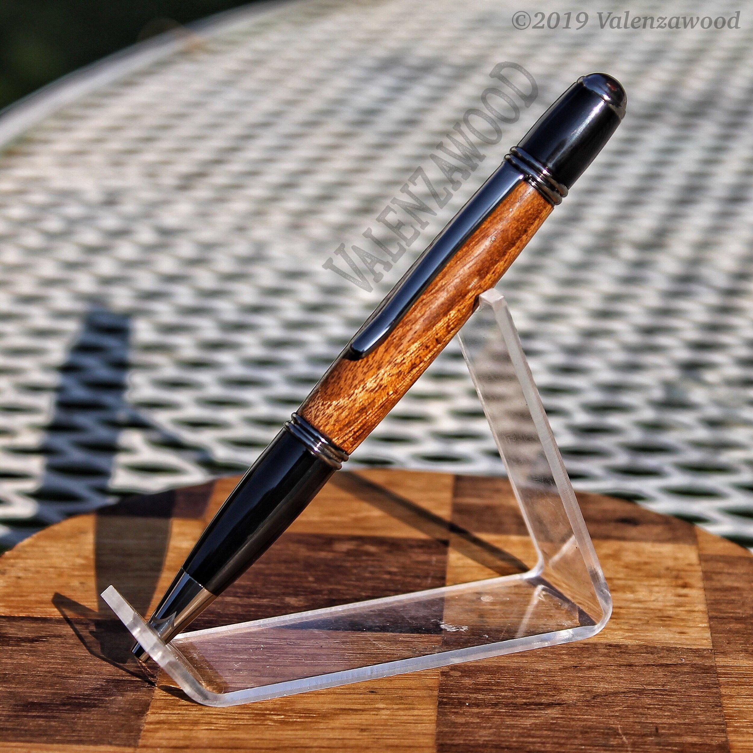Hububalli - Hububalli Wood | Gatsby Style | Twist Action | Gun Metal Trim | Ballpoint Pen