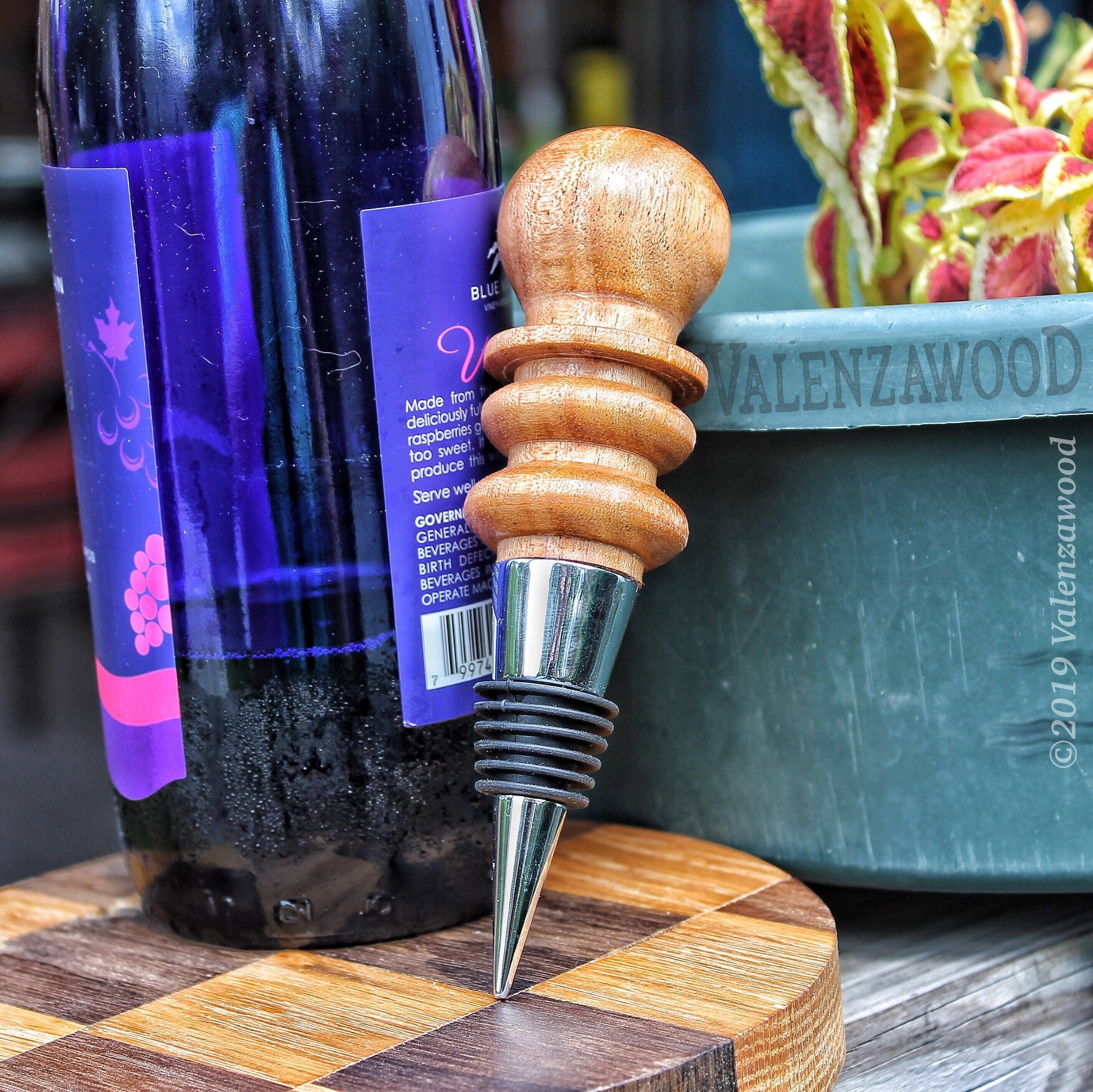 African mahogany - Wine Bottle Stopper