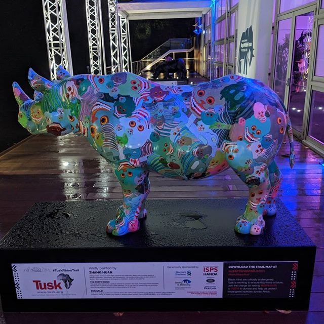 @tusk_org beautiful rhinos all around the place at the #IllegalWildlifeTrade Conference this week. Each and everyone of us is working hard to put an end to #wildlifecrime and stop the demand of restricted goods. #EndWildlifeCrime #saynotoivory #illegalwildlifetradeconference #rhinos #tusktrust #charity